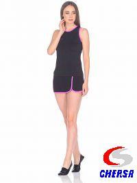 Юбка для гимнастики с шортами и цветным кантом