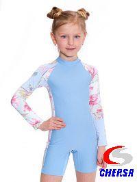 Комбинезон для плавания детский с длинными рукавами
