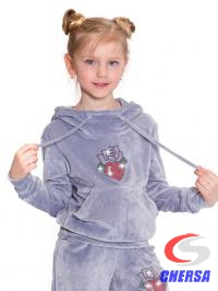 Спортивный костюм детский из бархата, с термоаппликацией