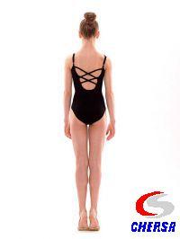 Купальник гимнастический без рукавов из хлопка