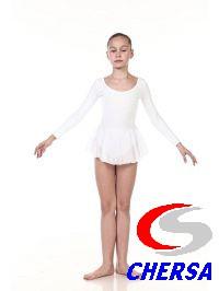 Купальник гимнастический из хлопка с юбочкой