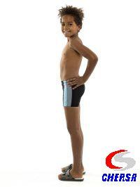 Плавки-шорты детские из бифлекса со вставками