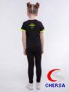 Футболка для девочек с декоративными разрезами