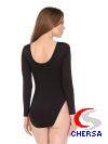 Купальник гимнастический с длинным рукавом из хлопка