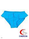 Трусики для девочек для плавания из однотонного бифлекса, с рюшами
