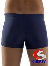 Плавки-шорты детские однотонные с логотипом