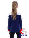 """Куртка для фигурного катания """"Триколор"""" из термобифлекса для мальчиков"""