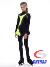 Платье для фигурного катания со стразами из термобифлекса